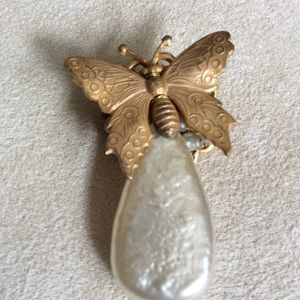 Miriam Haskell Jewelry - Vintage Miriam Haskell Butterfly Pin